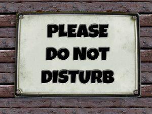 Do not disburb Light